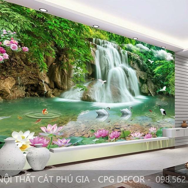 Tranh dán tường đẹp và giá rẻ chỉ có tại Cát Phú Gia