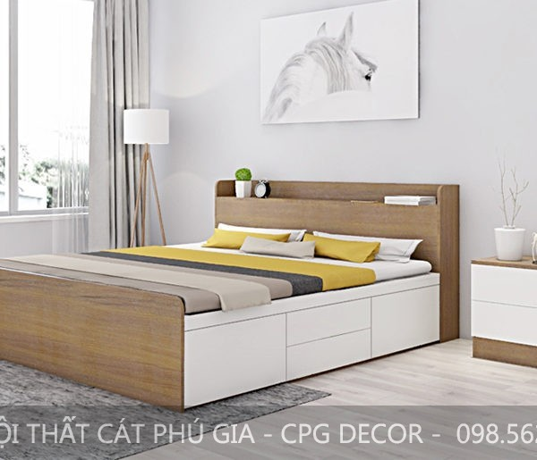 Trong căn phòng ngủ không thể thiếu sự góp mặt giường ngủ