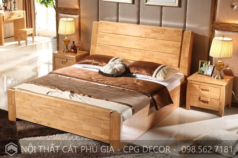 Cát Phú Gia cung cấp rất nhiều mẫu giường ngủ đẹp với giá thành phải chăng