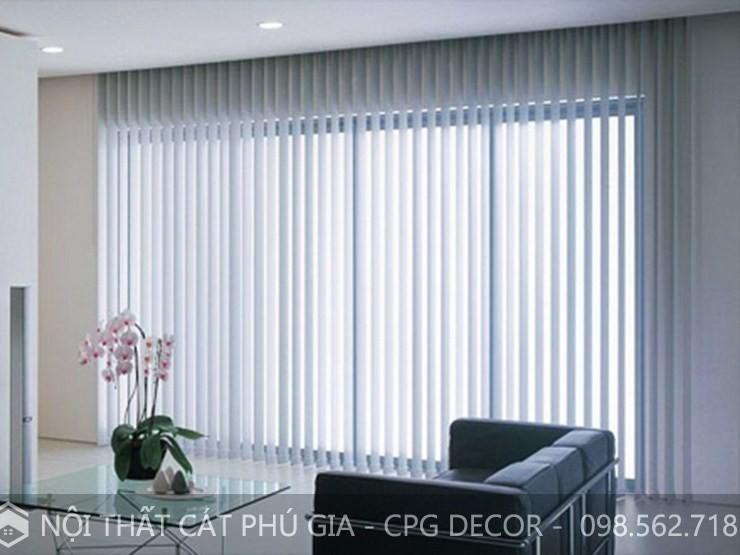 Mẫu rèm lá dọc được thiết kế nhẹ nhàng, đơn giản và tinh tế